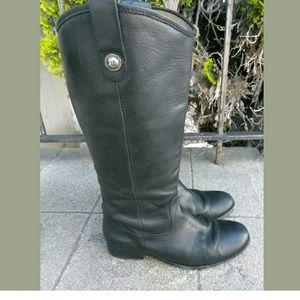 Melissa Button Frye Boots 8 Black Riding Moto
